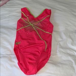 Pink and yellow cute leotard